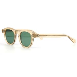 LEMTOSH ستايل 1915 النظارات الشمسية جوني ديب النظارات وصفة طبية تخصيص قصر النظر التقدمية نظارات شمس الأصفر والأخضر UV-400 G-15 عدسة