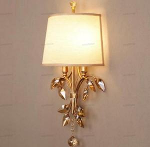 Modern Kristal Duvar Bar Vintage arandela açtı Odası Arkaplan Demir otel, Wall abajur duvar ışığı Yemek ışık fikstür Aplik