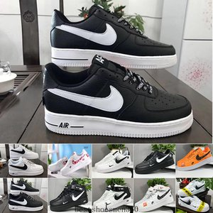 Air Force 1 One Af1 Sale 2019 New Design Forces Men Low Skateboard Shoes Cheap One Unisex 1 Knit Euro Air High Women All White Black Red Sise OPDD1