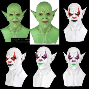 0HiyV Stephen Kings ItCosplay Pennywise Joker Clown Maske Tim Curry Maske Cosplay Halloween-Party-LED Props Mask