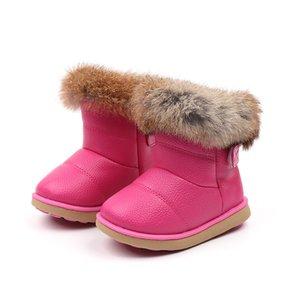 JGSHOWKITO девушки Boots моды ботинки снега для детей Детские резиновые для малышей мальчиков Девушка Малыши Теплый хлопка Плюшевые меха