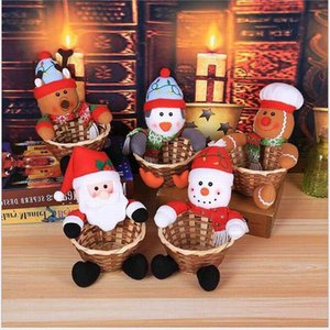 Bambus 20 * 15cm Tisch Qualitäts-Kinder-Süßigkeit Baskets Bag Heim Weihnachtsdekorationen Storage Basket 1j53