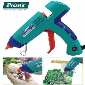 Pro'sKit GK-389H 100W 110V-240V Professional Hot Melt Pistolet à colle avec 3 PCS de Bâtons de colle pour le bricolage ou industriel r3nR #