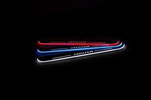 Voiture à pédales Extérieur Pièces LED porte Sill plaque Pathway lumière Scuff dynamique Streamer pour Jaguar XJ 2010 - 2015