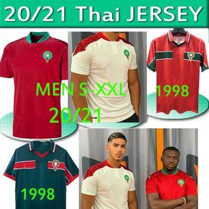 Marokko ZIYECH Fußball-Trikots 2020 21 Home Away Benatia BOUTAIB Boussoufa Belhanda BOUFAL Hakimi MAZRAOUI Fußballhemd