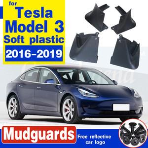 4pcs / Seti Paçalık için Tesla Model 3 Model3 2016 2017 2018 2019 Çamurluk Sıçrama Muhafızları Çamurluk Ön Arka Sport
