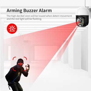 1080P PTZ Wireless IP impermeabile zoom digitale 4x Speed ​​Dome Super Mini Wifi sicurezza CCTV Audio Detection umana AI