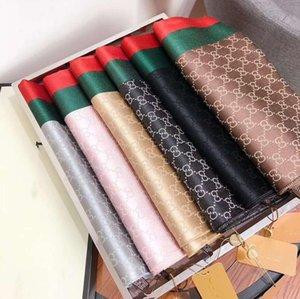 Designer Sciarpe Donne Scialli all'ingrosso Foulard Femme della banda di colore misto seta Sciarpe Dropshipping 180 * 70cm 6 colori