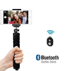 Sponge Octopus Selfie Tripod Universal Mobile Phone Selfie Camera Set Stand Holder Bluetooth Remote Shutter Release For Webcast
