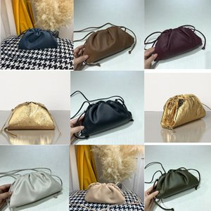 2020 Kadınlar kese içinde TEREYAĞ BUZAĞI Yumuşak Oversize Debriyaj derece de Yumuşacık Dana derisi tasarımcı lüks çanta çantalar Kadınlar Bulut XSlH #