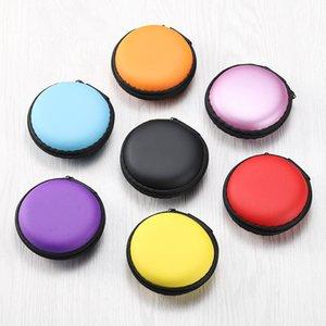 Neue 6 Arten von festem Farbe Kopfhörer Kabeltasche Datenkabel Verpackung USB-Kabel Box Kopfhörer Datenschutzkasten T3I51176