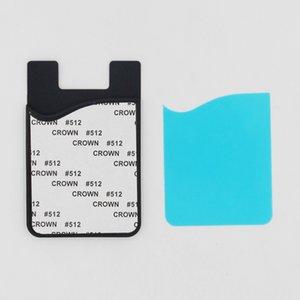 Etiqueta engomada en blanco Stick en Wallet Teléfono delgado Celular Titular de Bolsillo Adhesivo Adhesivo Caja de Tarjeta Plato de sublimación para inserto de titular con GABTN