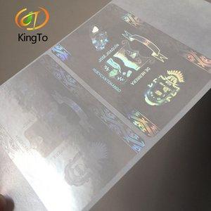 la seguridad de garantía de encargo tarjeta de etiqueta holográfica superposición transparente etiqueta de holograma