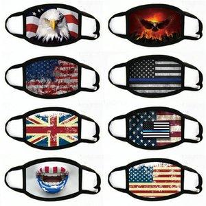 Manques de masques American Election Fournitures d'impression à la poussière Masque d'impression pour hommes Femmes Femmes American Drapeau Masque Masques # 250