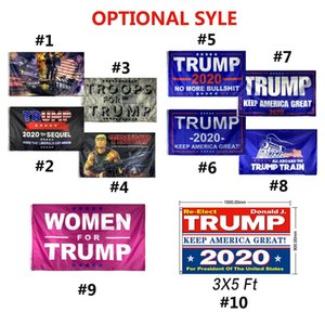 US Stock Trump Flags Trump Flag 3x5 ft Cheap Polyester Printing 2020 American Election Support Flag Banner Train Tank Rambo Women DHL Ship