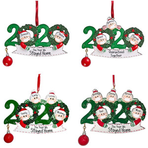 2020 Quarantine Christmas Ornament Christmas Tree pendent Decoration Gift Family Of Ornament with PVC Party Gift