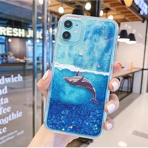 new Bling Quicksand Blue Whale Shark Glitter Cover For iphone X XR XS 6S 6 7 8 Plus 7Plus 8Plus 11 Pro Max 11Pro SE 2020 Phone Case