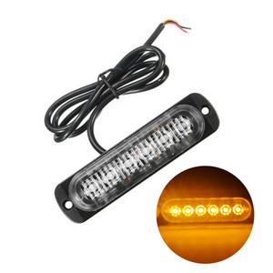 전구 램프 경고 1 배 노란색 호박 (6) LED 슬림 12V 24V 24LED 스트로브 빛 자동차 - 모터 차량 트럭 LED 사이드 마커 램프 점멸