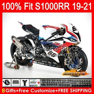 100% Fit Injection mold For BMW S1000 RR S1000RR 19 20 21 Bodywork 88HC.2 S1000-RR S 1000 RR S 1000RR 2019 2020 2021 Fairings blue red sale