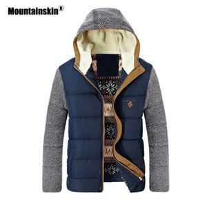 Mountainskin Winter Coat Men's Warm Parkas Thick Fleece Cotton Coats Slim Male Jackets Hooded Coat Mens Brand Clothing SA830 C0925