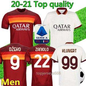 Nueva camiseta de fútbol Roma 20 21 hombre DZEKO TOTTI PELLEGRINI ZANIOLO Kluivert camisetas de fútbol as roma soccer jersey shirt maillot de foot
