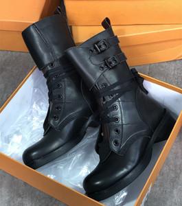 Новый Metropolis Flat Ranger Combat Boots Женщины Бедро высокие холст Кожаные ботильонные ботинки Мартин Обувь на шнуровке Вереток высшего качества с коробкой
