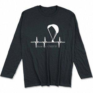 Parapendio Ecg maglietta Primavera Autunno Uomini cotone a maniche lunghe T-shirt divertente Hip Hop Tees Tops Harajuku Streetwear DEHS #