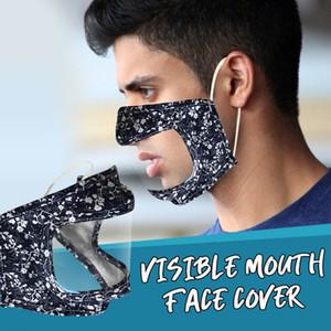 Moda Máscara Designer cara com adultos limpar a janela Crianças Outdoor Anti poeira Sorriso Máscara Communicator máscaras do partido Visible lavável reutilizável
