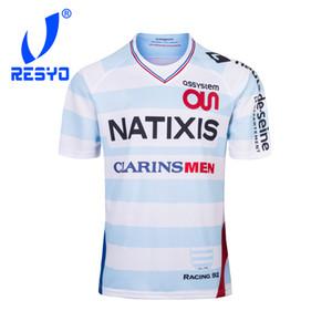 resyo for Maillot Pro Racing 92 2019 홈 럭비 저지 스포츠 셔츠 S-3XL