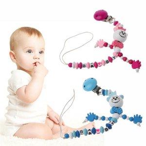 1PC 32.5cm 31.5CM Dummy Clip Pacifier Chain Holder Natural Organic Beech Wood Baby Newborn Shower Gift 9 Styles