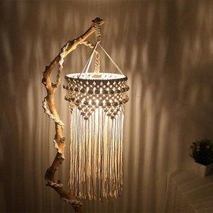 Abajur Macrame estilo nórdico de suspensão malha Mão Para Rope Lamp Tassel quarto Decoração Tapeçaria de estar Cotton VgjyU