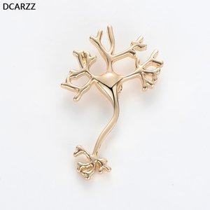 Accessori dei monili delle donne DCARZZ Neurologo distintivo pin Medici infermieri Oro Argento perni metallici uno squisito Neuron Spilla Moda