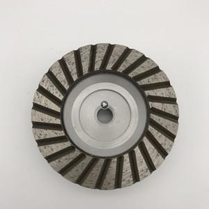 Алюминиевый Туро Чашка Weel 4 вклы (100 мм) немая Основная Одиночные Чашки Row для шлифования крупнозернистого абразива Гранитого Weel Протектор M14 Джессики