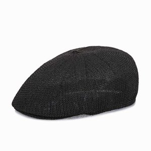 straw beret solid color visors man woman high quality panama summer shades cap vintage hat bone middle aged peaky blinders