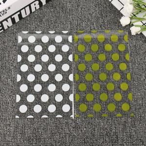 100pcs oro bianco Dots Candy Bag Packaging plastica Dolci Borse di avvolgere di regalo trasparente Cookie Borsa festa nuziale di compleanno