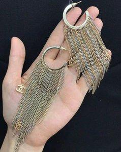 Hochwertiger Entwerferschmucksachemeister Frauen Ohrringe lange Quaste Ohrringe aus Messing Frauen Art und Weise Partei Schmucksachen freies Verschiffen