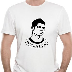 Men T Shirt T-shirt Cristiano Ronaldo dos Santos Aveiro black on white tshirts Women T-Shirt
