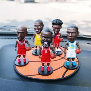 الأرقام 10CM الرياضة مشغل كرة السلة نجم النادرة نموذج ديكور سيارة لعبة هدية صغيرة دمية