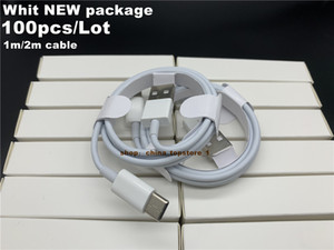 DHL 100PCS / LOT 7 Generación Calidad OEM 1M / 3FT 2M / 6FT Cable para IP 7P XS Datos USB Sincronización del teléfono Cable del teléfono con envasado al por menor