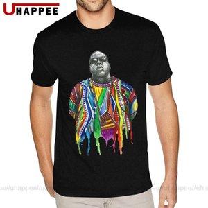 Acuarela digital de impresión directa The Notorious BIG camisetas Jóvenes de impresión en 3D camisetas de manga corta de los hombres de moda única de la ropa