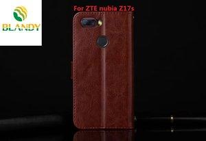 Pour ZTE Nubia Z17 mini de cuir Crazy Horse PU TPU portefeuille de couverture de cas pour ZTE Nubia Z17S