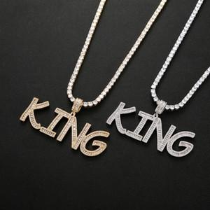 اسم العرف لا الرغيف الفرنسي خطابات قلادة ذهبية فضية اللون سحر CZ الهيب هوب قلادة سلسلة مجوهرات روك