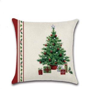 وسادة حالات الأغطية Chirstmas دوت الجورب سادات شجرة عيد الميلاد الجرس طباعة كيس مخدة الرئيسية صوفا وسادة القضية عيد الميلاد زينة هدايا DHD1257