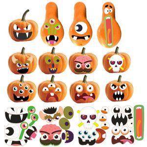 Halloween-Kürbis-Aufkleber Halloween-Aufkleber-Papier-Aufkleber Halloween-Partei-Dekor-Kürbis-Aufkleber Trick Or Treat Papieraufkleber BH3995 TQQ