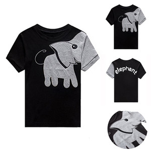 Clearance summer boys t shirt toddler girl tees Elephant t-shirt for girls cotton children's tshirts for boy child shirts kids tops