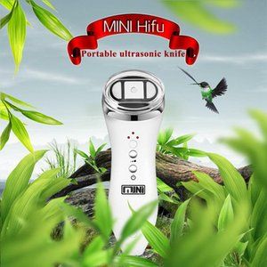 Mini Hifu High Intensity Focused Ultrasound Bipolar RF Face Neck Lifting Massager Wrinkle Removal Tightening Radio Frequency