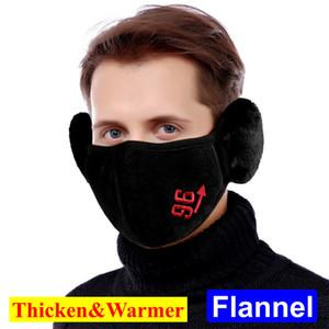 Nuova maschera Orecchio Designer Viso Muffs calda inverno Cyling Biker Ski Mask Outdoor flanella di cotone addensare Warmer Mask