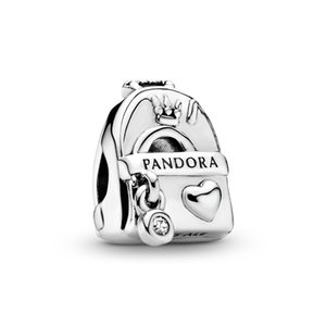 2020 New Hot Sale ALE 925 Sterling Silver Adventure Bag Backpack Charm Fashion Designer Charms Beads for DIY Jewelry making Pandora Bracelet