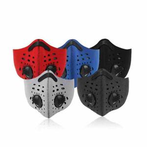 Спорт на открытом воздух Противопыльной маски для верховой езды водонепроницаемой маски для лица с пылом дыхательного клапана велосипедных Масками CYZ2615