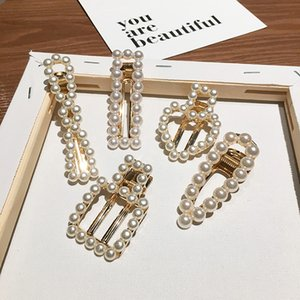 INS Pearl Barrettes Hair Accessories South Korea Online Celebrity Hollow out Sense of Design Headband Duckbill Clip Trend Cool B